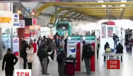 Главный аэропорт Рима закрыли из-за пожара