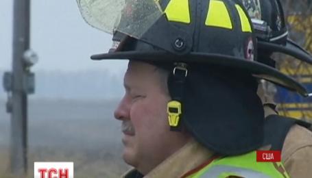 В Северной Дакоте горят нефтяные цистерны
