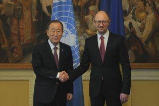 Яценюк закликав генсека ООН вплинути на світову спільноту для боротьби з Путіним