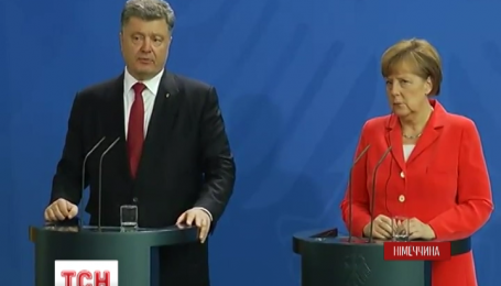 В Берлине президент Порошенко обсудил с Меркель, как реанимировать Минское соглашение