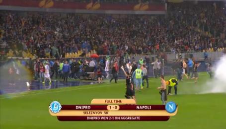 Дніпро - Наполі - 1:0. Емоції дніпрян та вболівальників після фінального свистка