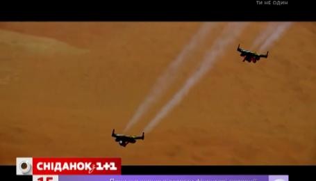 Пілот Ів Россі з реактивним ранцем літав над Дубаї
