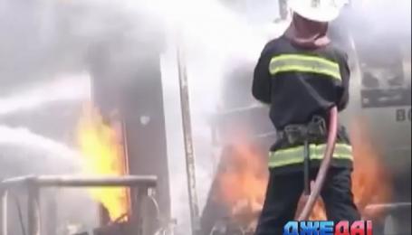 В Виннице горела автозаправка