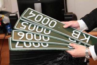 МВС вводить нові маскувальні автомобільні номери зеленого кольору