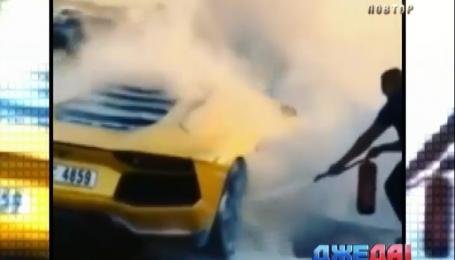 В Дубае за считанные минуты выгорел Lamborghini