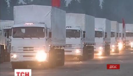 Сотня машин очередного 27 российского гуманитарного конвоя отправилась на Донбасс