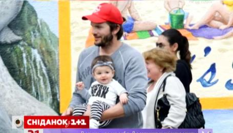 Эштон Кутчер и Мила Кунис показали дочь
