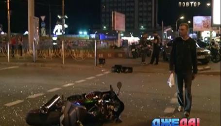 В Киеве ВАЗ сбил два мотоцикла