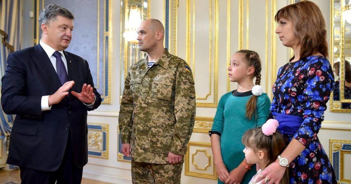 Порошенко с семьей Кузьминых @ Офис Президента Украины