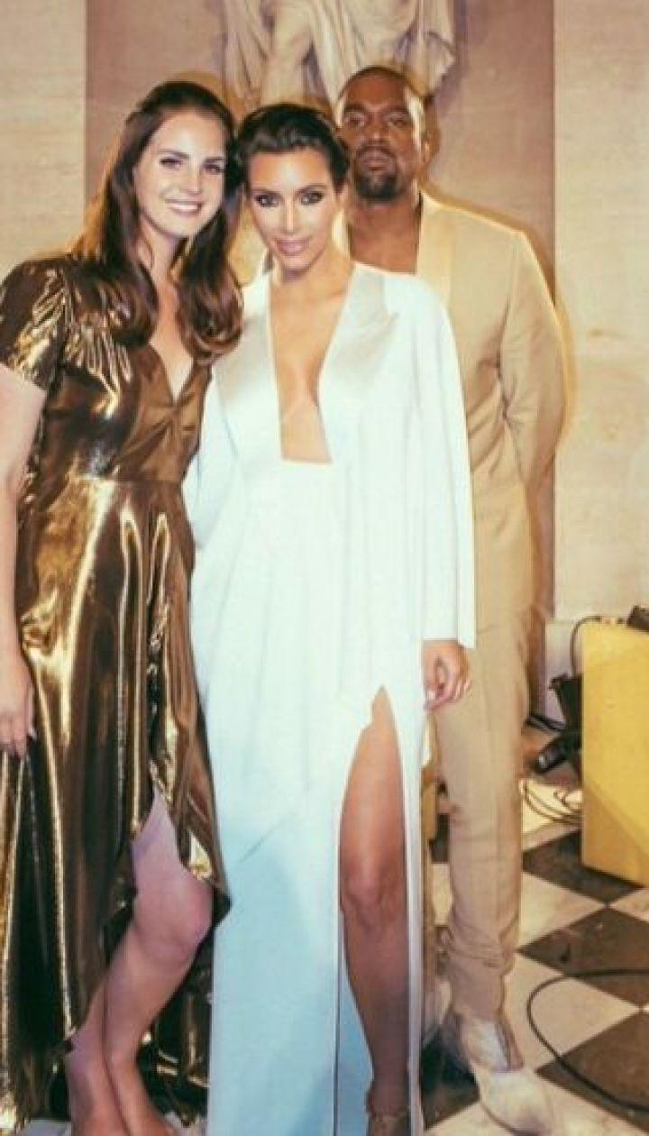 Ким Кардашьян и Канье Уэст с певицей Ланой Дель Рей @ Инстаграм