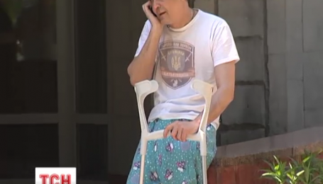 Тяжело раненый боец АТО боится, что его семья останется без крыши над головой