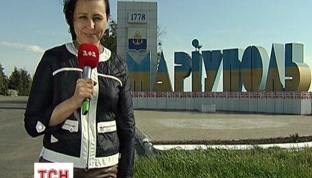 Ведущая ТСН Наталья Мосейчук в прифронтовом Мариуполе