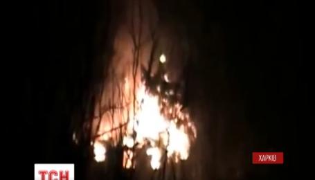 У Харкові сталася масштабна пожежа у військовій частині
