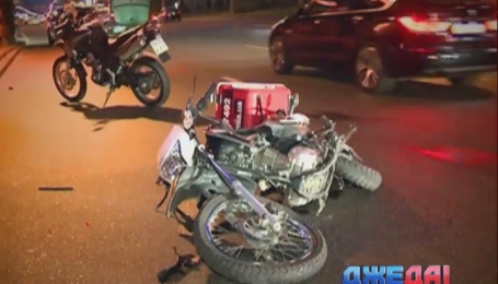 Водитель Honda сбил мотоциклиста в Киеве