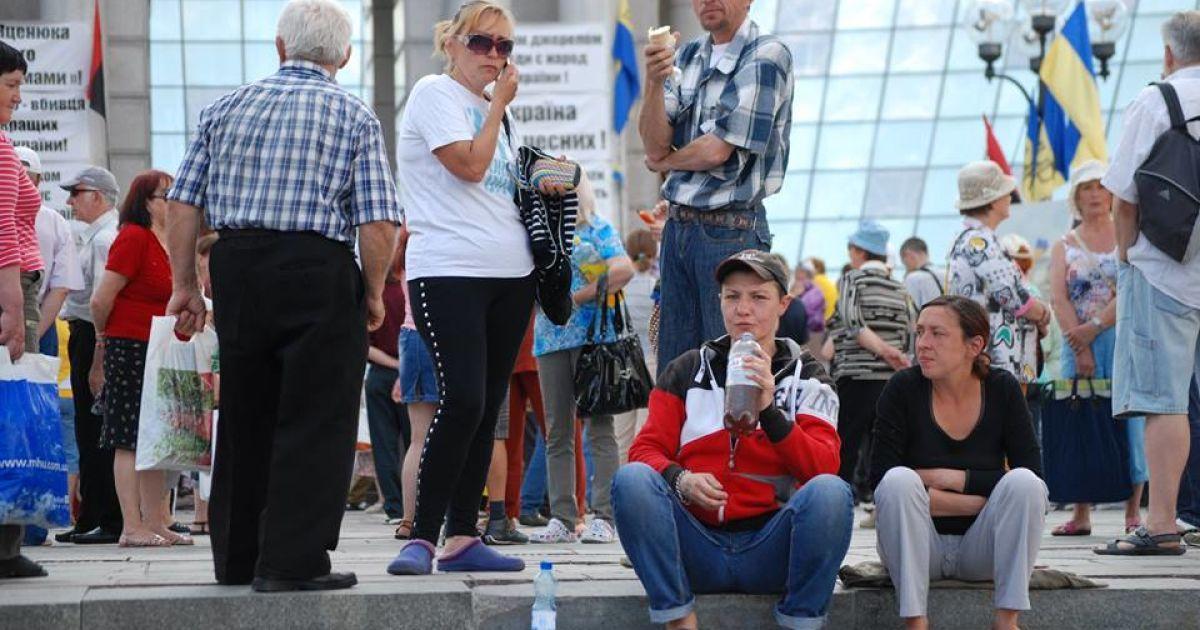 """""""Россия 24"""" снимала митинг в центре Киева @ Facebook/Київська міська варта"""