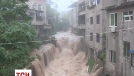Ливень разбил дороги в китайском городе Чунцин