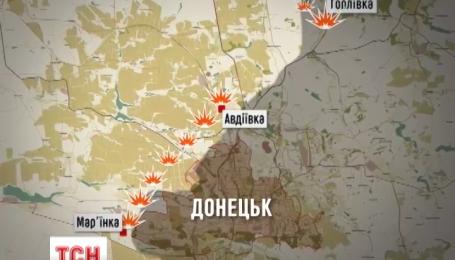 Найзапекліші протистояння тривають на околицях Донецька