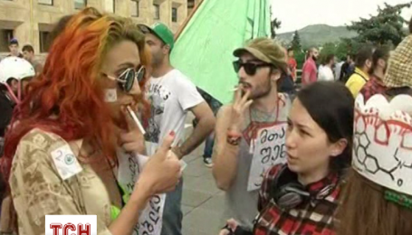 Грузинская молодежь требует легализовать марихуану