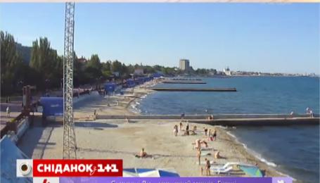 На крымских пляжах пусто