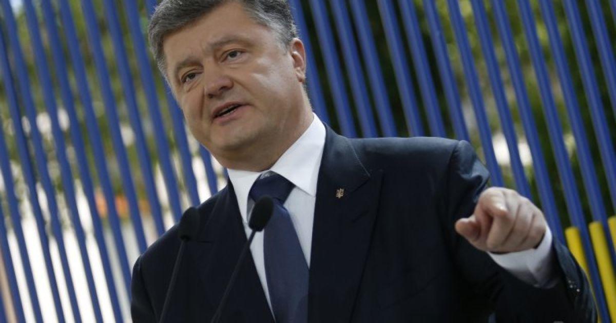 Прошедшая неделя стала первой, когда заработал режим прекращения огня - Порошенко