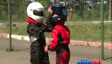 Под Киевом картинг-трассу покоряли юные гонщики