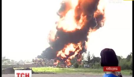Пожежників на нафтобазу під Васильковом викликали з великим запізненням