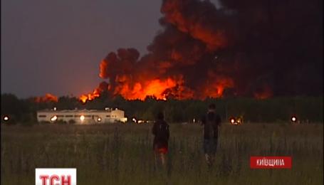 Огонь на нефтебазе под Киевом практически локализирован