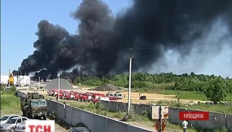 В Василькове перегорели почти все резервуары с нефтепродуктами