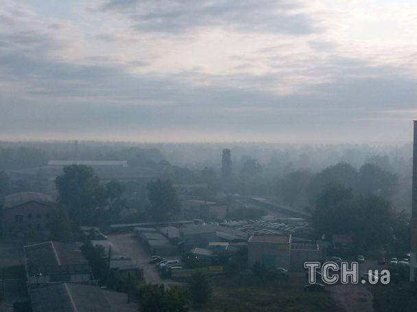 У Києві горить ліс: район ДВРЗ затягнуло димом