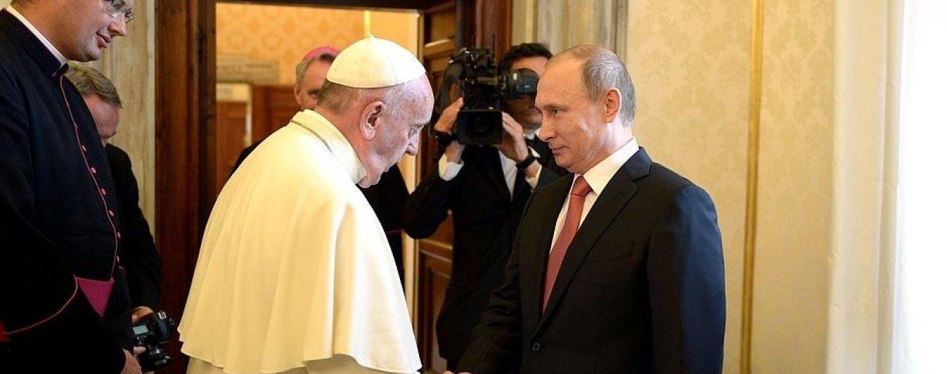 Папа Римский встретится с Путиным, чтобы поговорить об Украине