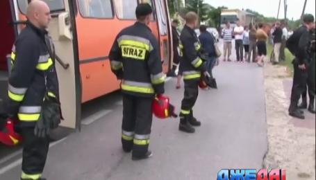 В Польше перевернулся автобус с дошкольниками
