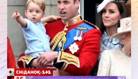 Принц Вільям вперше з'явився із сином на балконі Букінгемського палацу