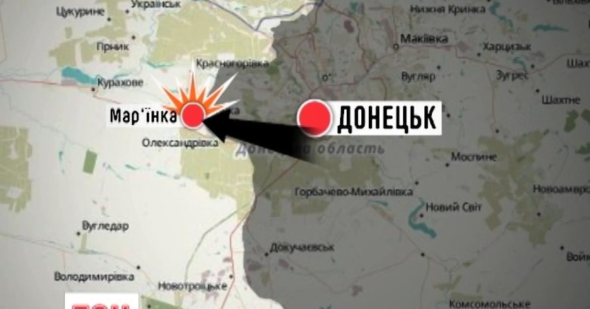 Боевики из гранатометов обстреляли Марьинку и ранили четырех бойцов АТО