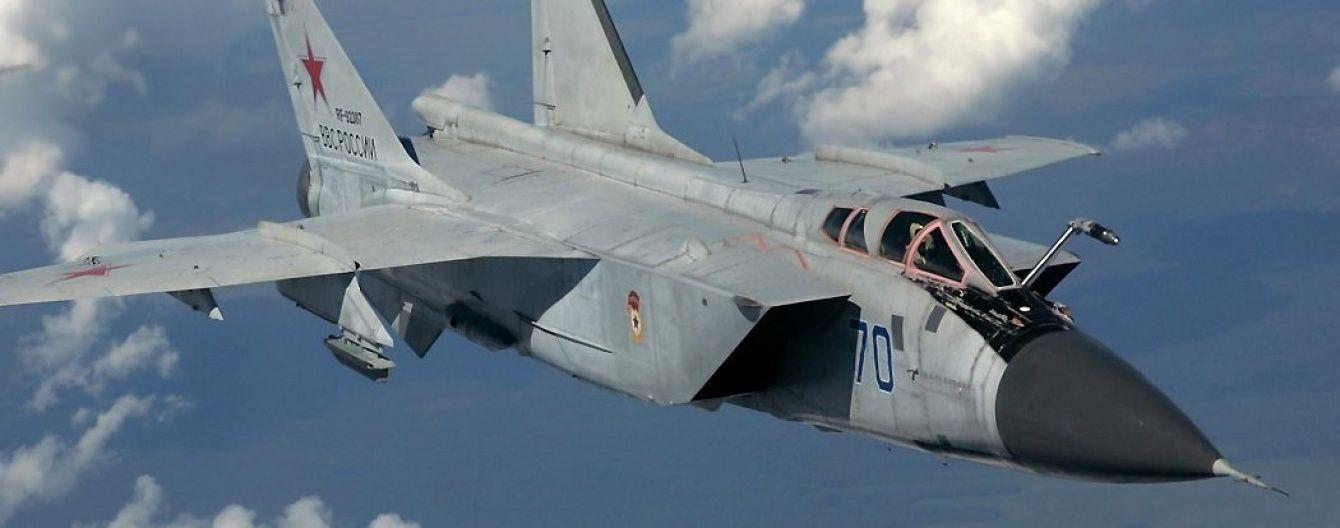 У Мережі з'явилося відео перших хвилин після падіння російського винищувача Міг-31
