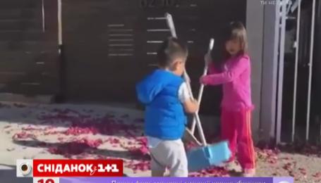 Двоє малих прибиральників завоювали серця тисяч користувачів