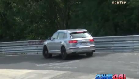 Тест-драйв новой Audi превратился в аварию