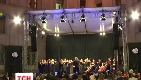 На крыльце Министерства иностранных дел состоялся концерт классической музыки