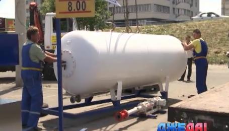 В Украине сносят газовые заправки