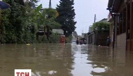 Рівень води в Сочі почав спадати