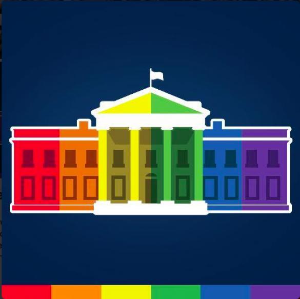 Белый дом обзавелся аватаркой в Twitter в цветах ЛГБТ-сообщества
