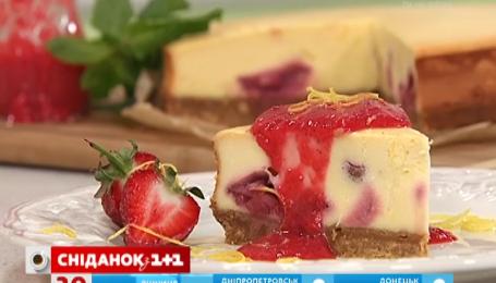 Рецепт полуничного чізкейку від Руслана Сенічкіна