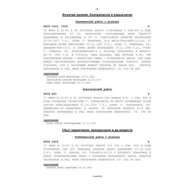 """Разбой, похищения людей и изнасилования: в Сеть """"слили"""" сводки """"милиции ДНР"""""""