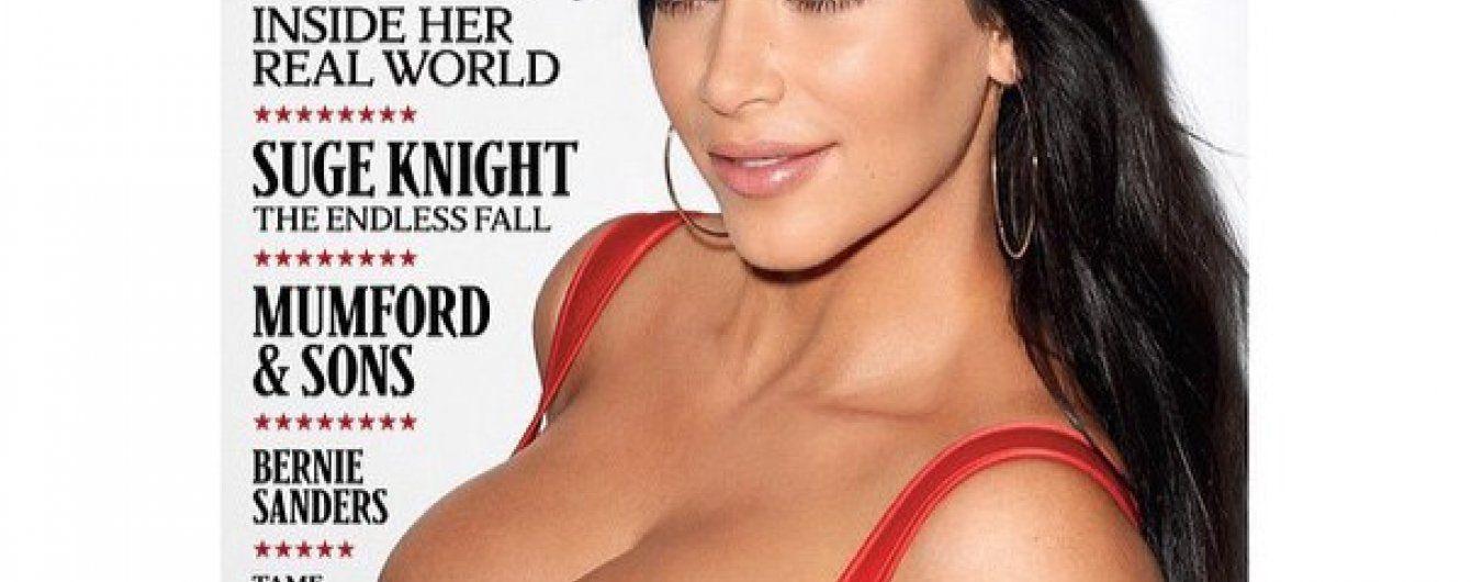 Ким Кардашьян похвасталась пышным бюстом на обложке Rolling Stone