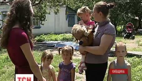 Пожар оставил без крова многодетную семью на Киевщине