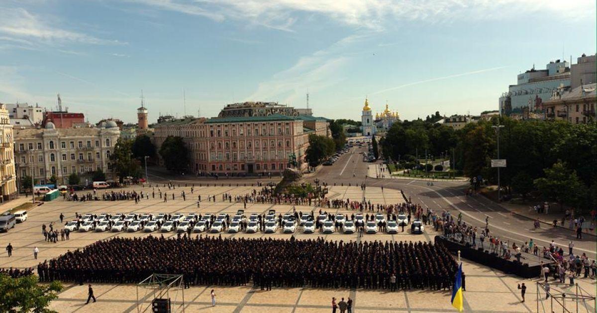 В Киеве приняли присягу патрульные