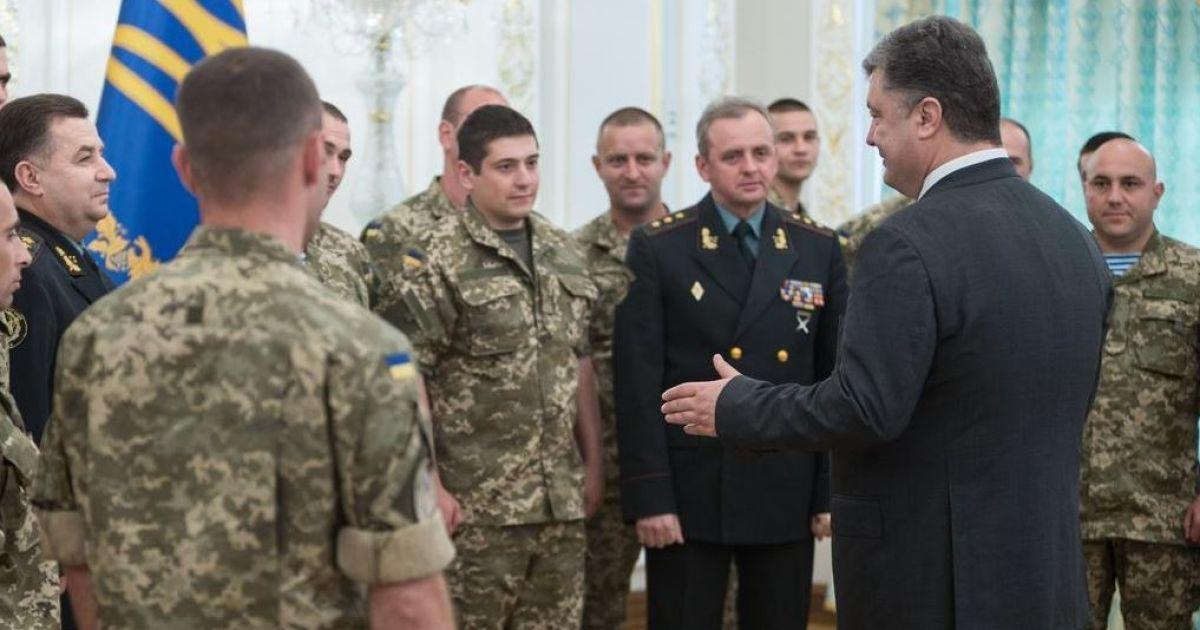 Порошенко встретился с бойцами АТО @ Пресс-служба президента
