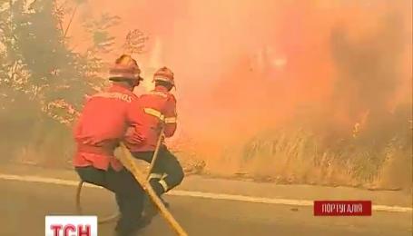 Пять человек получили травмы во время мощного лесного пожара в Португалии
