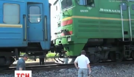 Под Николаевом вспыхнул пассажирский поезд Киев - Николаев