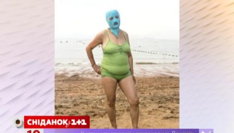 Китайцы придумали купальник для головы