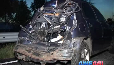 Двойная ДТП произошла на трассе Киев-Харьков